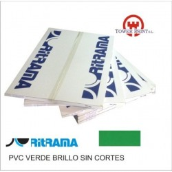 PVC VERDE BRILLO 135GR SIN CORTES 70x100.