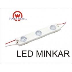 LED MINKAR IP67 PARA ROTULOS CADENA DE 10 UND. BLANCO