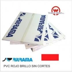 PVC ROJO BRILLO 135GR SIN CORTES 70x100.