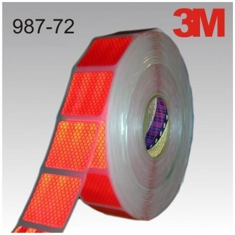 REFLECTANTE VEHICULOS HOMOLOGADO FLEXIBLE 987-72 ROJO 55mmx50m