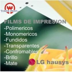 VINILO IMPRIMIBLE TRANSPARENTE LG 3812 MATE MONOMERICO U.V. 137X50,bobina