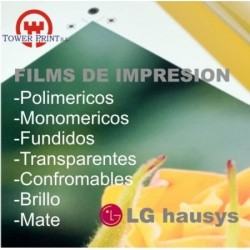 VINILO IMPRIMIBLE TRANSPARENTE LG 3812 MATE MONOMERICO U.V. 152X50,bobina