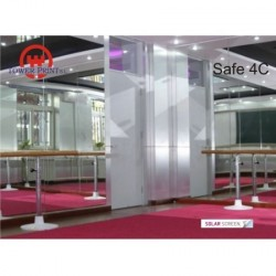 LAMINA DE SEGURIDAD CRISTALES INTERIOR SOLAR SCREEN SAFE 4C 1.52X30 MTS. rollo completo