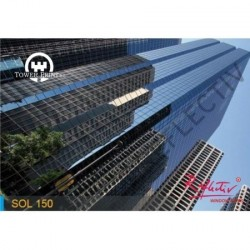 LAMINA SOLAR ANTICALORICA GRIS CLARO SOL 150 INT. 1.52x10 , rollo completo