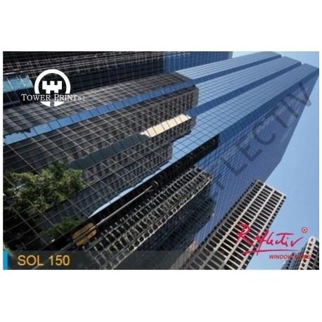 LAMINA SOLAR ANTICALORICA GRIS CLARO SOL 150 INT. 1.52x30 , rollo completo