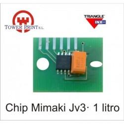 CHIP MIMAKI JV3 CYAN, UND.