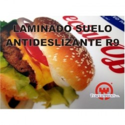 LAMINADO SUELOS FLOOR TALKERS 125 MICRAS R-9. 1.40 X 25 MTS