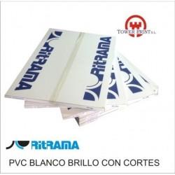 PVC BLANCO BRILLO 140GR CON CORTES 70x100