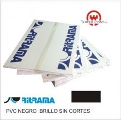 PVC NEGRO BRILLO 135GR SIN CORTES 70x100.