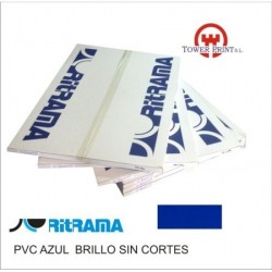 PVC AZUL 135GR SIN CORTES 70x100.